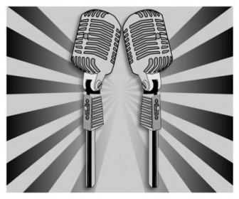 Vector Microphone Vector Clip Art