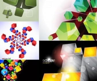 Vector Cool Cube Background Vector Art