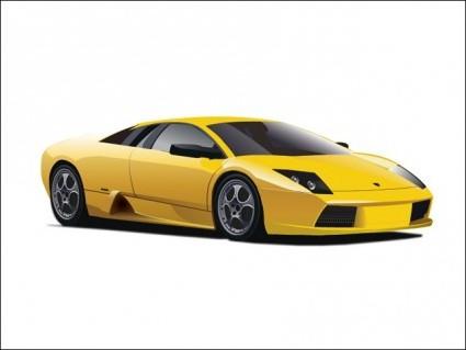 Vector Yellow Lamborghini Car Vector Art Ai Svg Eps Vector Free