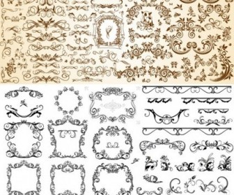 Vector Very Useful Set Of Europeanstyle Pattern Vector Art