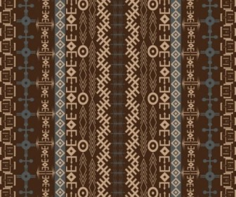 Vector African Traditional Pattern 03 Background Vector Art