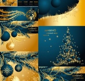Vector Gold 2011 Christmas Vector Graphics