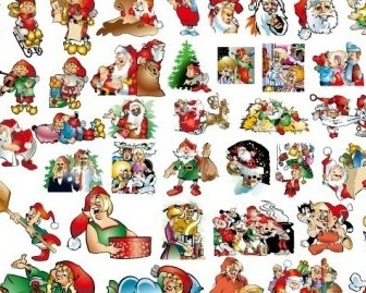 Vector 46 Lovely Christmas Illustration Material Background Vector Art