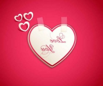 Vector Valentine's Day Heart Card Background Vector Art