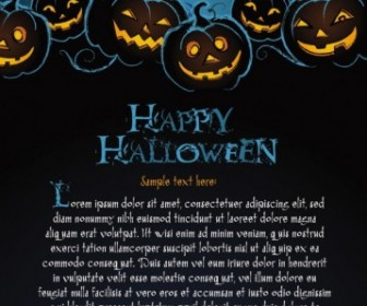 Vector Halloween Posters Beautiful 02 Background Vector Art