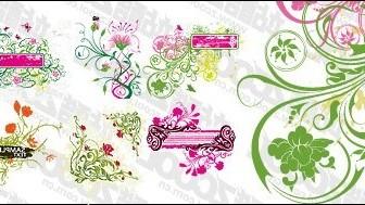 Vector 6, Practical Pattern Material2 Flower Vector Art