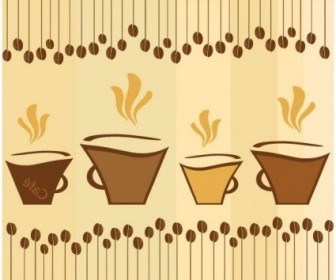 Vector Lovely Coffee Theme 2 Vector Art