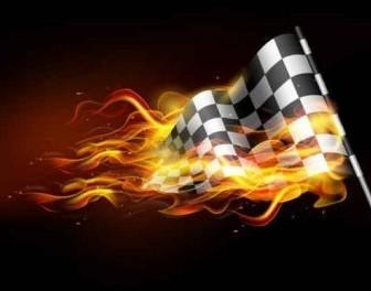 Vector Burning Flame Banner Background Vector Art
