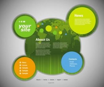 Vector Circular Template 05 Web Design Vector Graphics