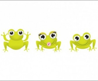 Vector Little Frogs Animal Vector Graphics