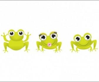 Vector Little Frogs Animal Vector Graphics