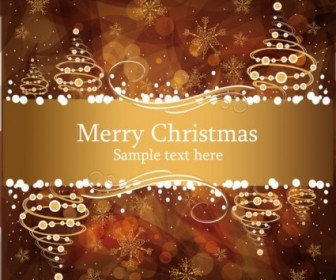 Vector Christmas Gorgeous Brown 04 Background Vector Art