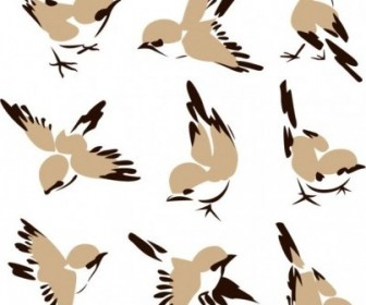 Vector Chinese Painting Bird 01 Vector Art