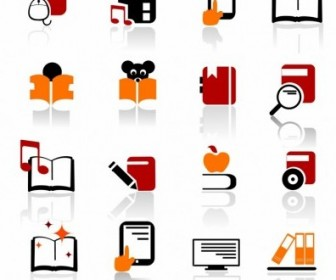 Vector Digital Books And Literature Icons Icon Vector Graphics