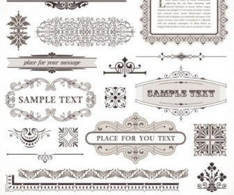 Vector European Frame 01 Pattern Vector Art