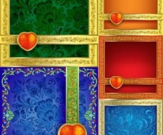 Vector Ornate Pattern Border Background Vector Art