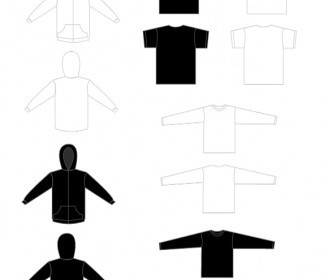 Vector TShirt And Sweatshirt Template Vector Art