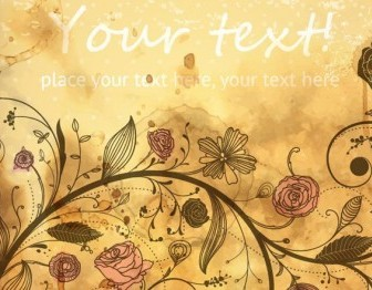 Vector Vintage Background Floral Vector Art