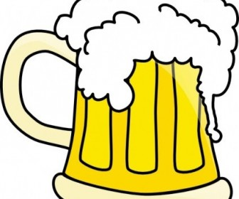 Vector Beer Mug Vector Clip Art