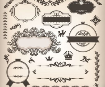 Vector The Classic Stickers 02 Pattern Vector Art
