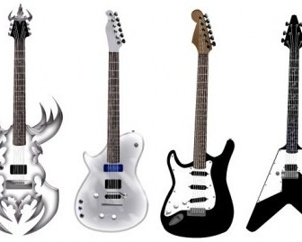 Vector Guitar Pack – Different Shape Vector Art