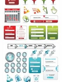Vector Web Design Elements Used Vector Art
