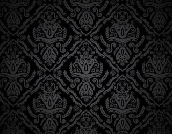 Vector Vintage Black Pattern Vector Art