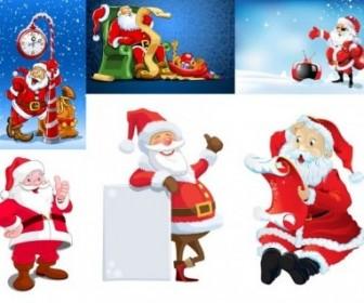 Vector 5 Santa Claus Vector Art