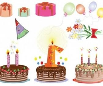 Vector Birthday Cards 04 Cartoon Vector Art