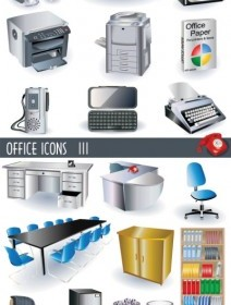 Vector Office Of The 3d Vector Art