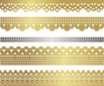 Vector Gold Lace 02 Pattern Vector Art
