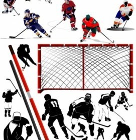 Vector Hockey Player Vector Art