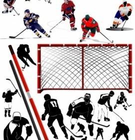 Vector Hockey Player Vector Art
