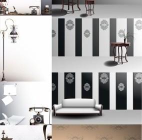 Vector European Classical Household Items Vector Art