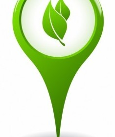 Vector Ecology Pointer Icon Vector Graphics