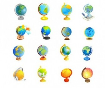 Vector Office Supplies Of The Globe Vector Art