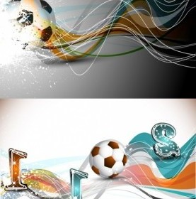 Vector Football And Dynamic Lines Of The Vector Art