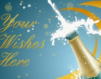 Vector New Year Champagne Vector Art