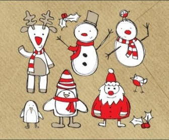 Vector Sketches Christmas Vector Graphics