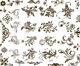 Vector Set Of Design Floral Vector Art