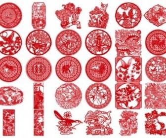 Vector 30 Of The Classical Papercut Pattern Vector Art