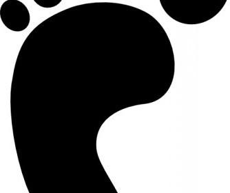 Vector Right Foot Print Vector Clip Art