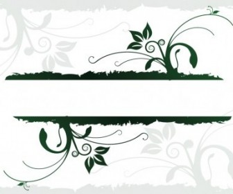 Vector Organic Design Juices Flowing Vector Banner
