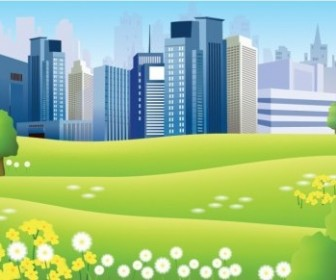 Vector Beautiful City Landscape Vector Graphics