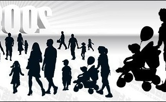 Vector With Threedimensional Silhouette 2009 People Vector Art