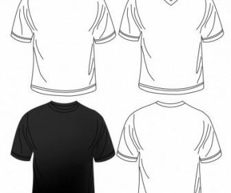 Vector Blank Men Tshirt Vector Art