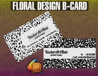 Vector Design Bcard Floral Vector Art