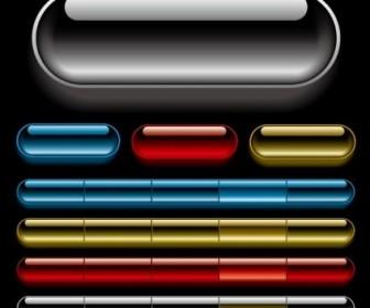 Vector Beautiful Crystal Texture Of The Navigation Bar Vector Art