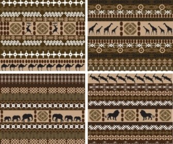 Vector African Traditional Pattern 01 Background Vector Art