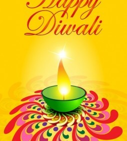 Vector Exquisite Diwali Card 05 Vector Art